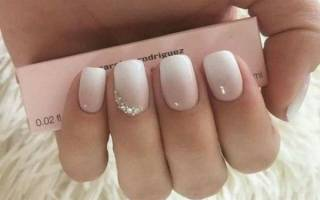 Как сделать амбре на ногтях