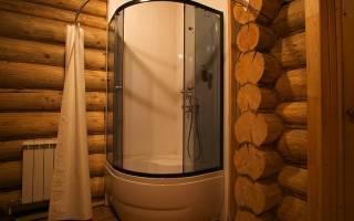 Как сделать душевую в деревянном доме