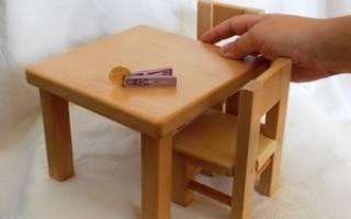 Как сделать из бумаги мебель для кукол