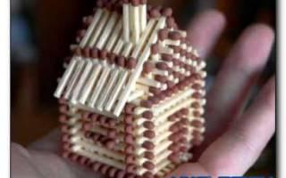 Как сделать дом из спичек с клеем