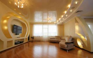 Какой потолок сделать в гостиной