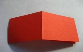 Как сделать из бумаги тигра
