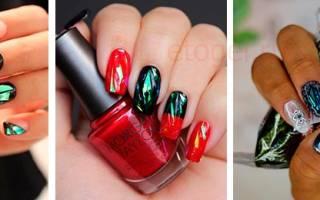 Как сделать битое стекло на ногтях