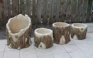 Как сделать вазон из дерева