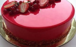 Как сделать зеркальный торт