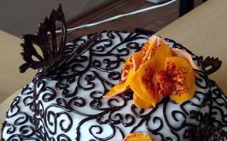 Как сделать бабочку из шоколада на торт