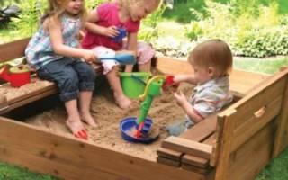 Сделать песочницу своими руками с дерева чертежи