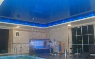 Потолок в бассейне из чего сделать