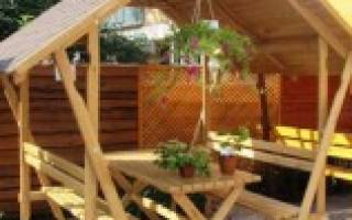 Как сделать двускатную крышу для беседки