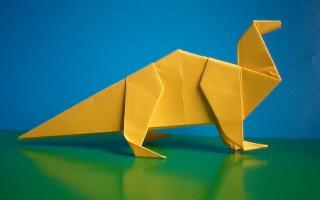Как сделать динозавра из бумаги своими руками
