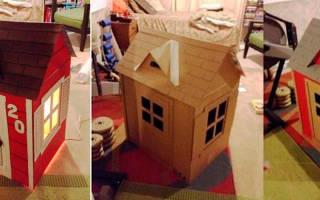 Как сделать дом из коробок