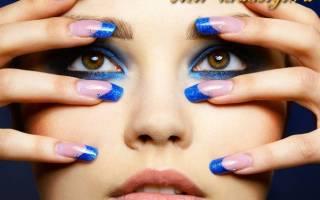 Каким цветом сделать маникюр под синее платье