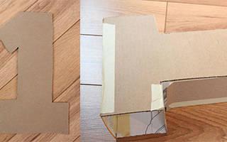 Как сделать букву из салфеток