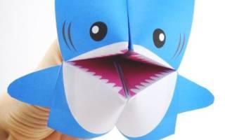 Как сделать из бумаги акулу