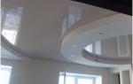 Как сделать двухуровневый натяжной потолок