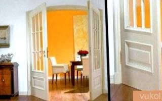 Как из двухстворчатой двери сделать одностворчатую