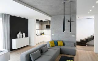 Как сделать бетонный потолок в стиле лофт