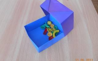 Как сделать из бумаги коробку без клея