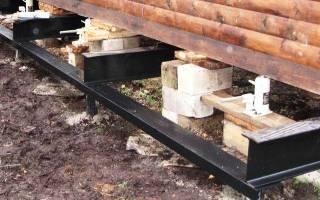 Как приподнять деревянный дом и сделать фундамент