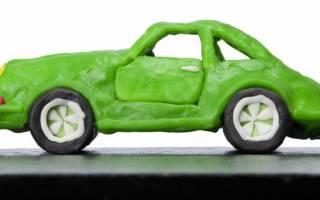 Как сделать из пластилина машину