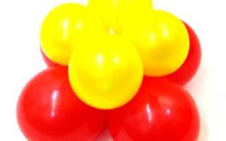 Как сделать гирлянду из шариков