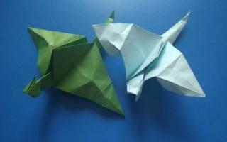 Как сделать из бумаги дракона который летает