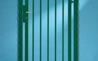 Дверь сделать на забор