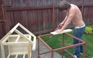 Сделать конуру для собаки своими руками схема
