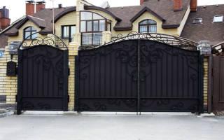 Сделать ворота во двор частного дома фото