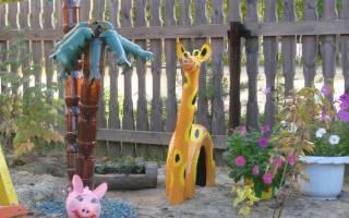 Как сделать жирафа из дерева