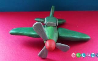 Как сделать из пластилина самолет