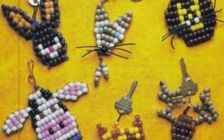 Как сделать из бисера животных схемы