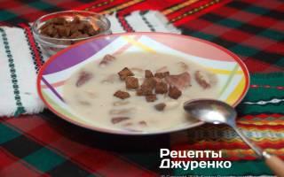 Как сделать грибной крем суп