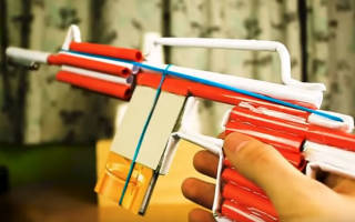 Как сделать из бумаги оружие ак 47