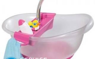 Как сделать ванну для кукол