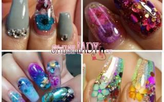 Как сделать аквариумный дизайн ногтей гелем
