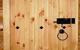 Как сделать дверь в сарай