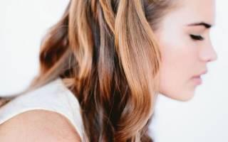 Как сделать водопад из волос