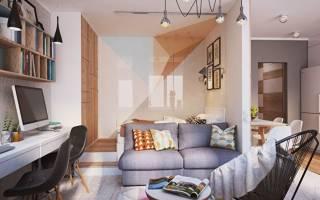 Как сделать зонирование в однокомнатной квартире