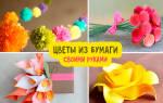 Как сделать из бумаги цветок без клея
