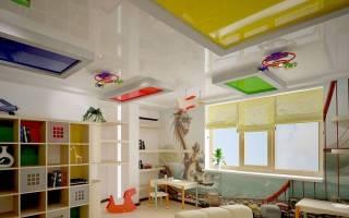 Какой потолок лучше сделать в детской