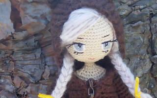 Как сделать глаза вязаной кукле