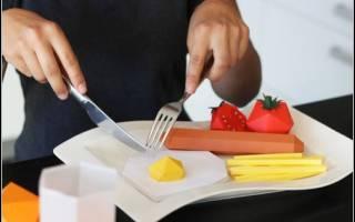 Как сделать из бумаги еду