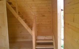 Сделать лестницу на второй этаж дачного домика