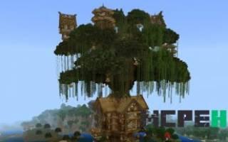 Как сделать домик на дереве в майнкрафте