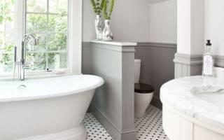 Из чего сделать перегородку в ванной
