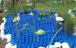 Сделать лебедя из пластиковых бутылок мастер класс