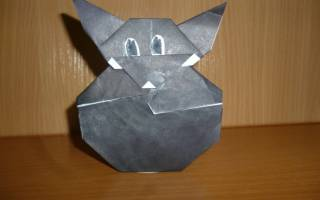 Как сделать волка из бумаги