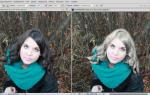 Как из брюнетки сделать блондинку в фотошопе