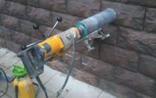 Сделать отверстие в бетоне под трубу цена
